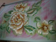 Febric painting on badsheet