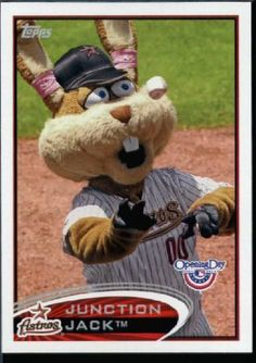 2012 Topps Opening Day Mascots Baseball Card #M -25 Junction Jack - Houston Astros - MLB Trading Card by Topps. $2.51. 2012 Topps Opening Day Mascots Baseball Card #M -25 Junction Jack - Houston Astros - MLB Trading Card