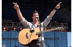 Lead vocalist Brad Rempel of High Valley performs on the main stage at the Big Valley Jamboree.