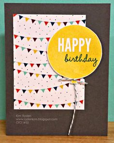 Stamping with Kim: Can You Case It? #53: Clean and Quick, Stampin' Up!, Celebrate Today