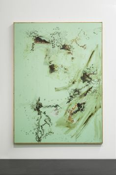Tiziano Martini, Untitled, 2014, acrylic and oil paint, acrylic enamel, rust, dirt and sediments on cotton, wooden frame, cm 192x152, Courtesy OTTO ZOO, foto Andrea Rossetti