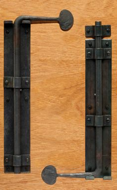 Barn Door Cane Bolt  When two doors come together without a post in the center of the opening, a cane bolt is needed