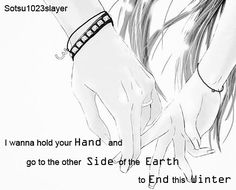 Anime Couple, holding hands, cute, love❤