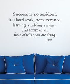Slate 'Success Is No Accident' Wall Quotes™ Decal