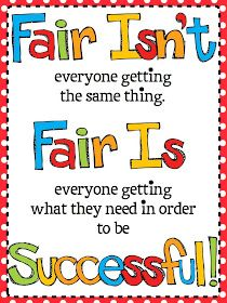 FREE Fair Isn't Always Equal Poster