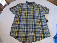 Men's Tommy Hilfiger shirt Plaid L slim fit button up 7845236 English Ivy 937