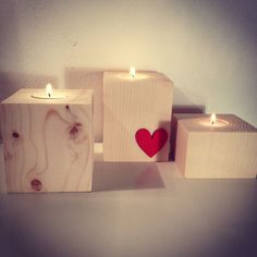 Portacandele in legno di unacosatiralaltra su Etsy Candels, Candle Holders, Home And Garden, Wood, Christmas, Gifts, Etsy, Ideas, Xmas