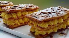 Milhojas con crema pastelera (crema pastelera de Paco Torreblanca)
