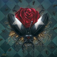 Anthony Clarkson Source: (vía Surrealism and Visionary art: Anthony Clarkson) Beautiful Dark Art, Beautiful Paintings, Macabre Art, Pop Surrealism, Visionary Art, Surreal Art, Skull Art, Valentines Diy, Rose Petals