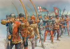 battle of the Wars of the Roses. Yorkist line at the Battle of Towton