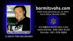 VJ Nicky Fish providing professional Bar and Bat Mitzvah DJ entertainment nationwide since 1996. Founder and President of M&M Entertainment & BarMitzvahs.com