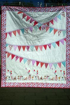 Birthday Bunting Quilt Finished - Sarah Jane Children at Play | Flickr - Photo Sharing!