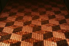 Patterned Penny-Topped Tables - The Callofthegame DIY Project Features 5,218 Coins (GALLERY)