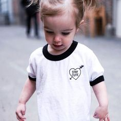 Can't get enough of this mini babe // entire site's on sale and these toddler ringer tees are only $10! xoxo stay-cute.com  #Regram via @staycutexo