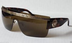 a151586c23e VERSACE Sunglasses Shield MOD.2130 1252 73 130 3N made in Italy (brown