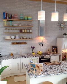 Dollhouse kitchen. Cutlery clock. Modern miniatures.