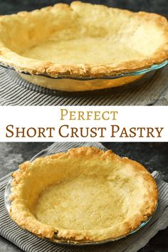 Every Baker should know how to make a Shortcrust pastry recipe. Made basic or sweet, this simple recipe with egg and butter can be used for a variety of the best sweet and savoury dishes, from pies, t Best Shortcrust Pastry Recipe, Savoury Pastry Recipe, Best Pastry Recipe, Easy Pastry Recipes, Tart Recipes, Cooking Recipes, French Dessert Recipes, Köstliche Desserts, Delicious Desserts