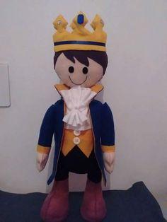 Boneco príncipe com molde