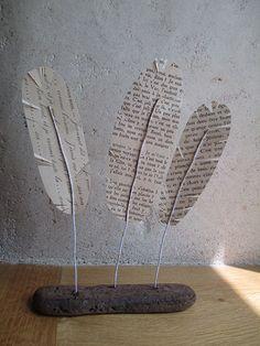 plumes littéraires création papier et bois