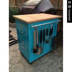 #Repost @hcstorebr ・・・ E o arquivo vira um balcão pra cozinha. Só colocar uma…