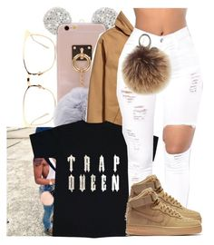 """TRAP QUEEN x FETTY WAP"" by juske ❤ liked on Polyvore featuring Linda Farrow, NIKE and Rebecca Minkoff"