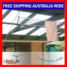 Versaline - Ceiling Mounted Clothes Airer - Clothes Line - Airers - Drying Rack