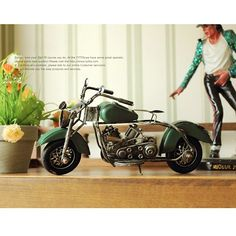 Vintage Antique Style Knight Motorcycle Metal Model Memory of Old Times Decoration Gift - Gadgets-Novelty - TopBuy.com.au