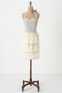...must always wear an appropriate apron, in order to ward off stray spills and splatters. Anthropologie, $32.00