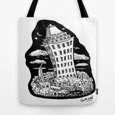 High Rise  on a bag at Society 6