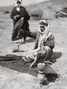 Bedouin with Falcons: Jordan 1900-1920 | Photographium | Historic Photo Archive