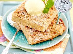 Apfelmuskuchen mit Keksstreuseln Rezept   LECKER