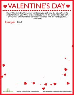 1000 images about valentine 39 s day on pinterest word search valentines day and valentine words. Black Bedroom Furniture Sets. Home Design Ideas