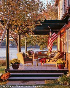 Autumn at the Cabin - Chebeague Island, Maine. Design: Will Winkelman, Architect