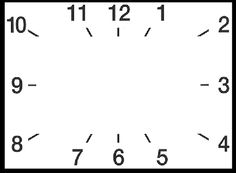 Someone requested a square but this looks like a rectangle clock template...I can work with anything and I will take all the ideas I can get :) eb
