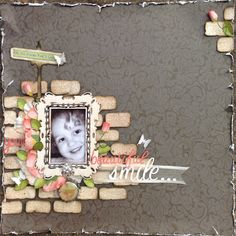 My Creative Scrapbook: Creating a Brickwork Effect with Lou Collins