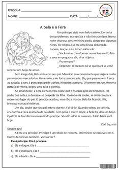 SOS PROFESSOR-ATIVIDADES: A Bela e a Fera