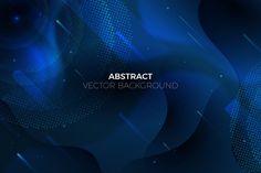 Fondo azul clásico abstracto | Vector Gratis Vector Background, Frases, Shades Of Green, Blue Nails, Neon Lighting, Geometric Background, Free Vector Art