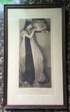 Framed Antique Art Nouveau  Print Isabella Pot Of Basil  John White Alexander  in Art, Art from Dealers & Resellers, Prints | eBay
