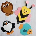 Hoe je deze leuke dieren van hartjes kunt knutselen staat op mijn blog Homemade by Joke. Leuk voor Moederdag of Valentijn ❤️