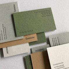Discover beautiful business cards and stationery letterpress and foil printed in Melbourne, Australia. Brand Identity Design, Corporate Design, Business Card Design, Logo Design, Self Branding, Letterpress Business Cards, Paper Design, Editorial Design, Typography Design