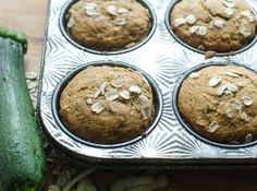 Healthy Zucchini Oat Muffins | Healthy Ideas for Kids