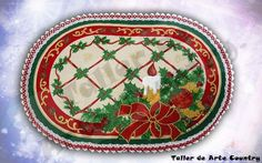 bordado liquido manteles - Buscar con Google Arte Country, Textiles, Decorative Plates, Christmas Tree, Holiday Decor, Home Decor, Google, Youtube, Yule