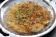 Homemade Kanafeh Almond Recipes, Gluten Free Recipes, Bread Recipes, Knafe Recipe, Pistachio Cream, Strawberry Mousse, Creamed Eggs, Melted Cheese, Vegetarian Cheese