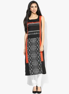 Buy W Black Printed Kurta for Women Online India, Best Prices, Reviews | XW574WA38FGJINDFAS