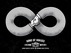 Band Of Horses @ Johnny Mercer Theatre @ Savannah Music Festival (April by Halftone Def Studios Horse Posters, Band Posters, Music Posters, Event Posters, Band Of Horses, Logo Design, Graphic Design, Graphic Patterns, Design Design