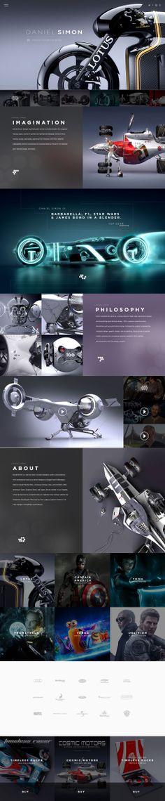 Daniel Simon Website Design