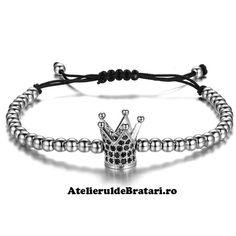 Bratara dama cu Argint 925 cu coronita este impletita manual. Bratara dama cu Argint 925 cu coronita este ambalata intr-o cutie cadou sau saculet de catifea si poate fi cadoul ideal pentru o zi aniversara sau onomastica. Bracelets, Silver, Men, Jewelry, Fashion, Corona, Moda, Jewlery, Jewerly