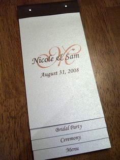 ceremony program idea for layout