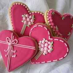 Heart Flowers Cookies