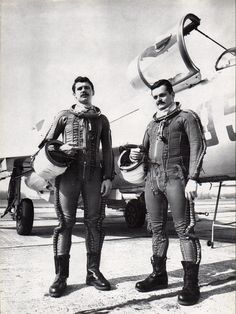 Two Hungarian cosmonaut candidates: Bertalan Farkas and Bela Magyari, first class fighter pilots of the Hungarian Peoples Army.
